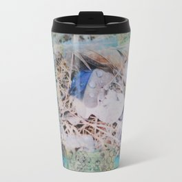 Feathers Mixed Media Metal Travel Mug