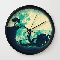 silhouette Wall Clocks featuring The Big One by Jay Fleck