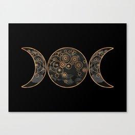 Triple Moon - Dark Side Canvas Print