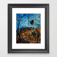 BROKEN LANDSCAPE Framed Art Print