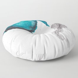 """""""A Creative Mind Never Sleeps"""" - Karla Leigh Wood Floor Pillow"""
