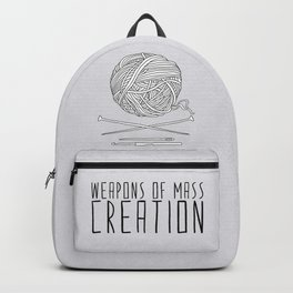 Weapons Of Mass Creation - Knitting Backpack