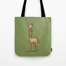 Cleo Giraffe Green Tote Bag