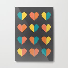 Hearts: Four Metal Print
