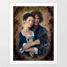 Claire and Jamie Art Print
