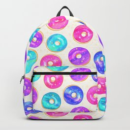 Galaxy Donuts on Cream Backpack