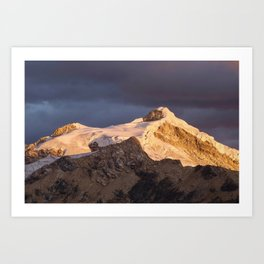 Nevado Ishinca Art Print