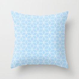 Geometric Hive Mind Pattern - Light Blue #280 Throw Pillow