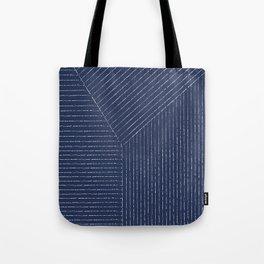 Lines / Navy Tote Bag