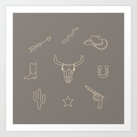 western Art Prints featuring WESTERN by Brukk