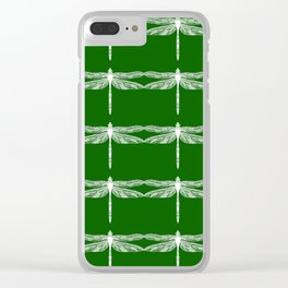 Green Dragonflies Clear iPhone Case