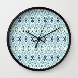 Ikat Java Blue Mini Wall Clock