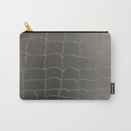 Crocodile silver skin Carry-All Pouch