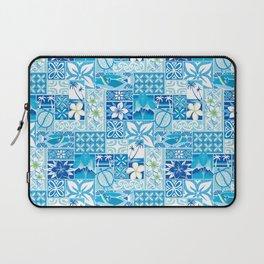 New Hawaiin Motif in Blue Laptop Sleeve
