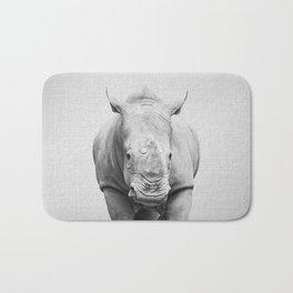 Rhino 2 - Black & White Bath Mat