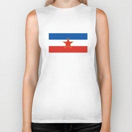 yugoslavia country flag Biker Tank