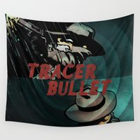 calvin Wall Tapestries featuring Calvin & Hobbes: Tracer Bullet Alternate by Gallery 94