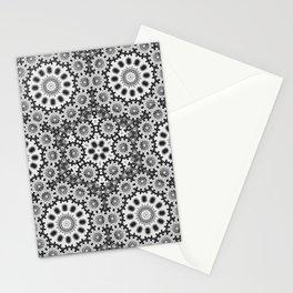 Magical black and white mandala 010 Stationery Cards