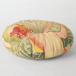 Classic French art nouveau Absinthe Robette Floor Pillow