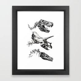 Jurassic Bloom. Framed Art Print