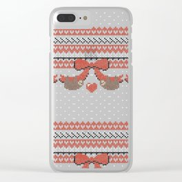 A Lazy Winter Sweater Clear iPhone Case