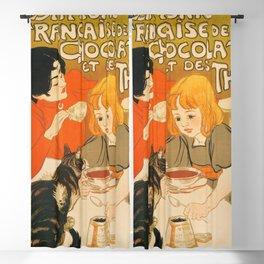 Chocolats et des Thés  Blackout Curtain