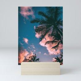 CLOUDS - COCONUT - TREES - DAYLIGHT - PHOTOGRAPHY Mini Art Print