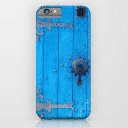 Blue Weathered Door and Ironwork iPhone Case