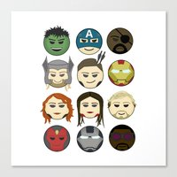 avenger Canvas Prints featuring Avenger Emojis :) by jozi.art
