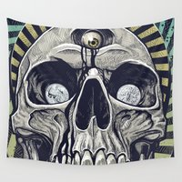 third eye Wall Tapestries featuring The Third Eye by Matthew Fields Robinson