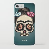 frida iPhone & iPod Cases featuring Frida by mangulica