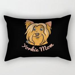 Yorkie Mom Gift Yorkshire Terrier Dog Lovers Rectangular Pillow