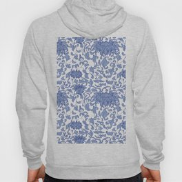 Chinoiserie Vines in Delft Blue + White Hoody