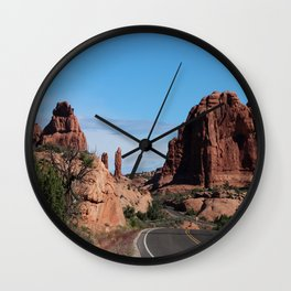 A Winding Road Leading To The Next Adventure Wall Clock