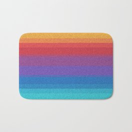 Woven Rainbow 04  Bath Mat