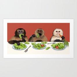 Dieting Monkeys Art Print