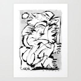 It's Okay - b&w Art Print