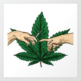 creation of Adam's joint Art Print