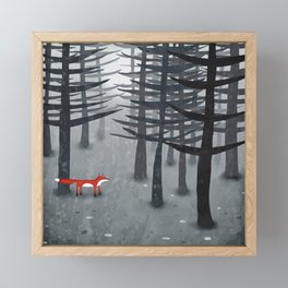 The Fox and the Forest Framed Mini Art Print