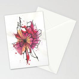 Pink and yellow Flower Explosion  Stationery Cards