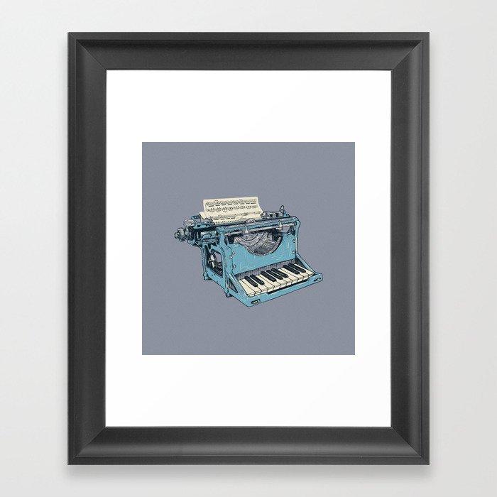 The Composition. Framed Art Print