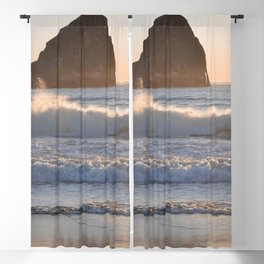 CAPE KIWANDA SUNSET - OREGON Blackout Curtain