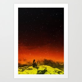 Burning Hill Art Print