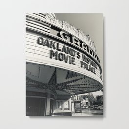 Theater in Black and White Metal Print