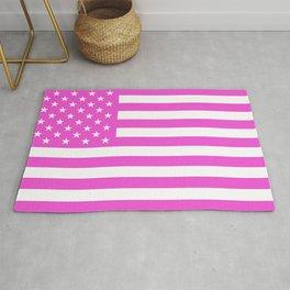U.S. Flag: Pink Rug