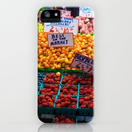 pike place fruit iPhone Case