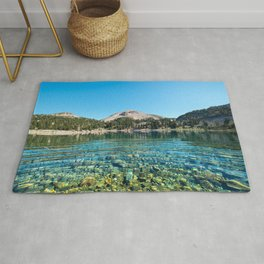Picture California USA Lake Helen Lassen National Forest Nature Mountains Water stone mountain Stones Rug