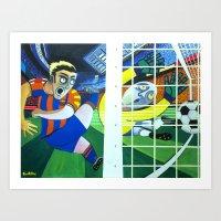 Gol del Barça ! Art Print