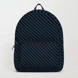 Snorkel Blue and Black Stripe Backpack