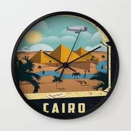 Vintage poster - Cairo Wall Clock
